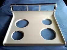 Almond porcelain enamel cooktop for 1981 GE P7 vintage oven range parts
