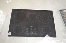 Whirlpool G9CE3065XB 30  Black Smoothtop Electric Cooktop NOB  27691 HL