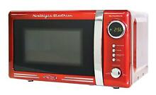 Retro 0 7 Cubic Foot Microwave Oven Powerful 700 watt oven LED display red