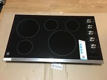 Kenmore 45303 36  Electric Cooktop with Radiant Elements   Stainless Steel