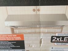 Presenza 30  Under Cabinet Range Hood Stainless Steel 380 CFM LED Lights QR065