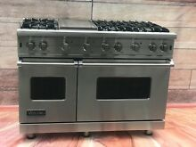 Viking Range 48  VGCC548 6GSS All Gas  6 Burners Pro  2 Large Ovens  Warranty