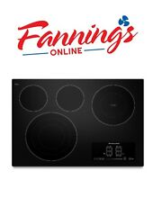KitchenAid KECC607BBL 30  Black Electric 4 Burner Cooktop Smooth Surface 30 In