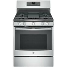 New 30 in  5 0 cu  ft  Free Standing Gas Range in Stainless Steel 2 Oven Racks