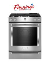 KitchenAid 5 Burner 6 5 cu ft Self cleaning Slide In Convection Gas range 30 in