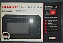Sharp Microwave Oven  NEW IN BOX 1 1 cu ft SMC1131CB 1000w Black PICKUP ONLY