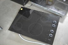 Whirlpool W5CE3024XB 30  Black Smoothtop Electric Cooktop NOB  28143 CLW