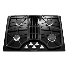 KitchenAid KGCD807XBL 30  Black 4 Burner Gas Downdraft Cooktop NIB  28196 HL
