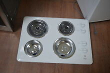 Whirlpool WCC31430AW 30  White Electric Coil Cooktop NOB  28372 HL
