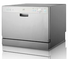 Portable Countertop Dishwasher 6 Wash Cycles Kitchen RV Camping Silver SD 2201S