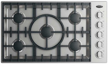 DCS CDV2365HL 36  Stainless Liquid Propane 5 Burner Cooktop  28606 HL