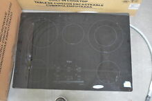 Whirlpool G9CE3065XB 30  Black Smoothtop Electric Cooktop NOB  28504 HL