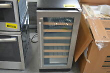 Whirlpool WUW35X15DS 15  Stainless Under Counter Wine Cooler NOB  28506 HL