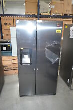 Samsung RS25J500DSG 36  Black Stainless Side by Side Refrigerator NOB  28801 HL