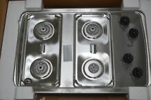 Whirlpool W3CG3014XS 30  Stainless 4 Burner Gas Cooktop NOB  29122 HL