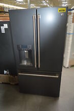 GE Cafe CFE28UELDS 36  Black Slate Wifi French Door Refrigerator NOB  29187 CLW