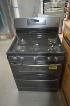 GE JGB860FEJDS 30  Black Slate Double Oven Convection Gas Range NOB  29188 CLW