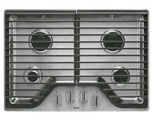 New Whirlpool 30 in Gas Cooktop Stainless Steel 4 Burners WCG51US0DS