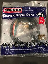 Lot of 10 UNIVERSAL ELECTRIC DRYER CORD 4 FT  4 WIRE  30 AMP APPLIANCE PARTS