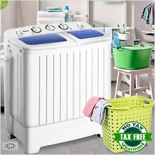 Costway Portable Mini Compact Twin Tub 17 6lb Washing Machine Washer Spin Dryer