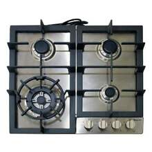 New Magic Chef MCSCTG24S 24 inch Gas Cooktop with 4 Burners  Stainless Steel