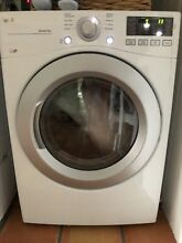 LG   7 4 Cu  Ft  8 Cycle Ultralarge Capacity Smart Gas Dryer   White Model  DLG3