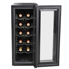 12Bottles Wine Cooler Refrigerator Chilling Storage Freestanding Quiet Operation