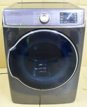 Samsung DV56H9100GG 30  9 5 Cu  Ft  15 Cycle Steam Gas Dryer Used Good