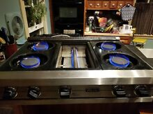 VIKING PRO VGRT3604QSS 36  GAS RANGETOP USED FULLY TESTED