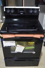 Whirlpool WFE515S0EB 30  Black Freestanding Electric Range SteamClean  16503 CLW