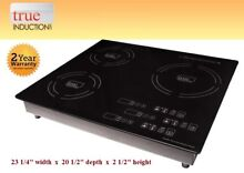 True Induction Cooktop   Triple Burner TI 3B   Counter Inset TI3B