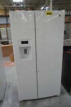 GE GSS25GGHWW 36  White Water Ice Maker Side by Side Refrigerator NOB  29897 HRT