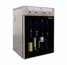 2018 4 Bottle Built In Wine Cooler Refrigerator Cellar with Electric Dispenser