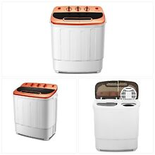 Washing Machine And Spin Dryer Portable Compact Do Mini Twin Tub 13Ibs Capacity