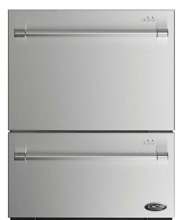 NEW   DCS DD24DV2T7 24  Stainless Fully Integrated Double DishDrawer   FREE SHIP