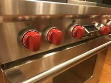 Wolf Range DF364 36  Dual Fuel Range Oven Pro 4 Burners Stainless   Griddle