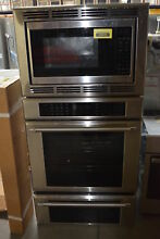 Thermador MEDMCW31JP 30  Stainless Triple Combination Wall Oven NOB  30832 HRT