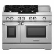 KITCHENAID KDRS483VSS DUAL FUEL CONVECTION FREESTANDING RANGE COMMERCIAL STYLE