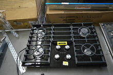 KitchenAid KGCC506RBL 30  Black Glass 4 Burner Gas Cooktop NOB  30932 HRT