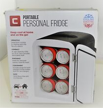 Chefman Mini Portable Compact Personal Fridge Cools   Heats