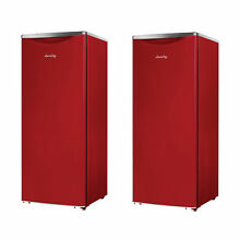 Danby 11 Cu  Ft  Apartment Sized Contemporary Classic Refrigerator  Red  2 Pack
