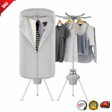NEW 1000W Portable Electric Clothes Dryer Heater Rack Wardrobe RV Drying Machine