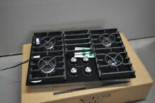 KitchenAid KGCC506RBL 30  Black 4 Burner Gas Cooktop NOB  32765 HRT
