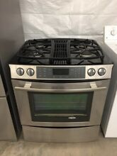 Jenn Air 30   Slide in Gas Downdraft Range  StainlessModel   JGS9900CDS02
