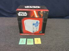 STAR WARS R2 D2 4l THERMOELECTRIC COOLER 6 PACK CANS AC DC DESK FRIDGE NEW