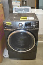GE GFW450SPMDG 27  Diamond Gray Front Load Washer NOB  33779 HRT