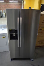 GE WRS321SDHZ 33  Stainless Side By Side Refrigerator NOB  33788 HRT