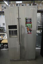 KitchenAid KRSC503ESS 36  Stainless Side By Side Refrigerator CD NOB  33906 HRT