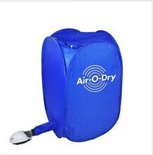 New Air O Dry mini Portable Electric Clothes Dryer Bag Blue 110v 220v