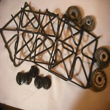 Gas range stove parts coker grates knobs and more complete set